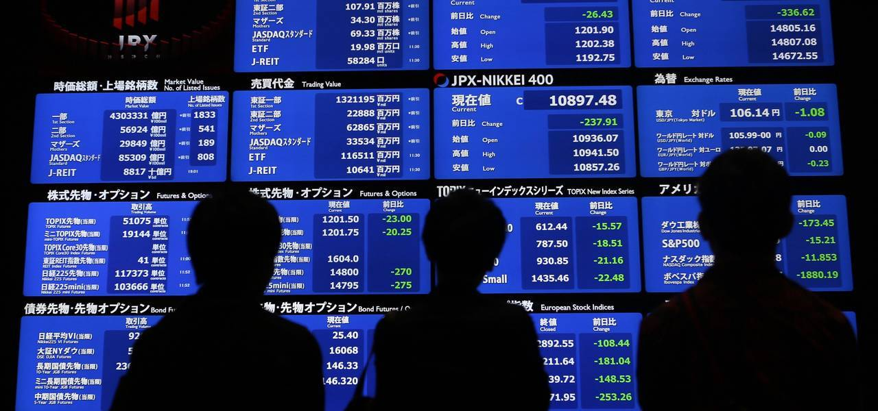Asian equities are sluggish after Wall Street dives