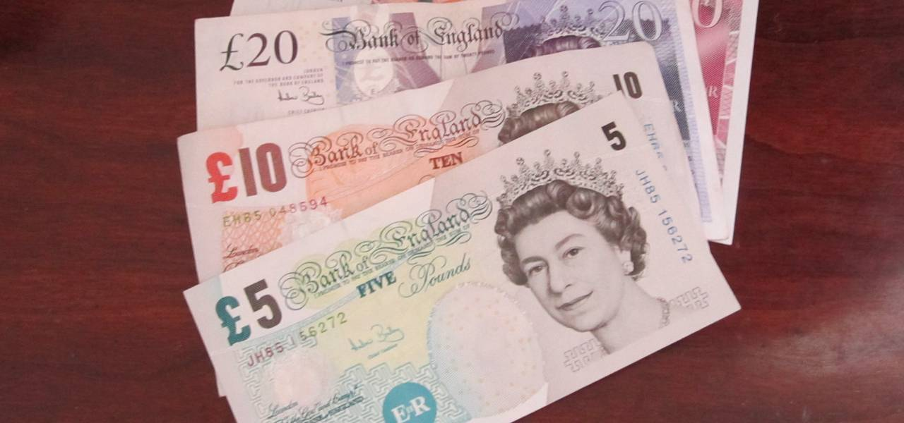 British pound is near day's maximums on UK retail data