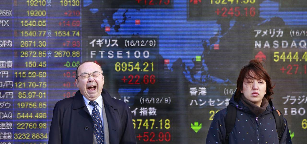 Asia stocks edge down