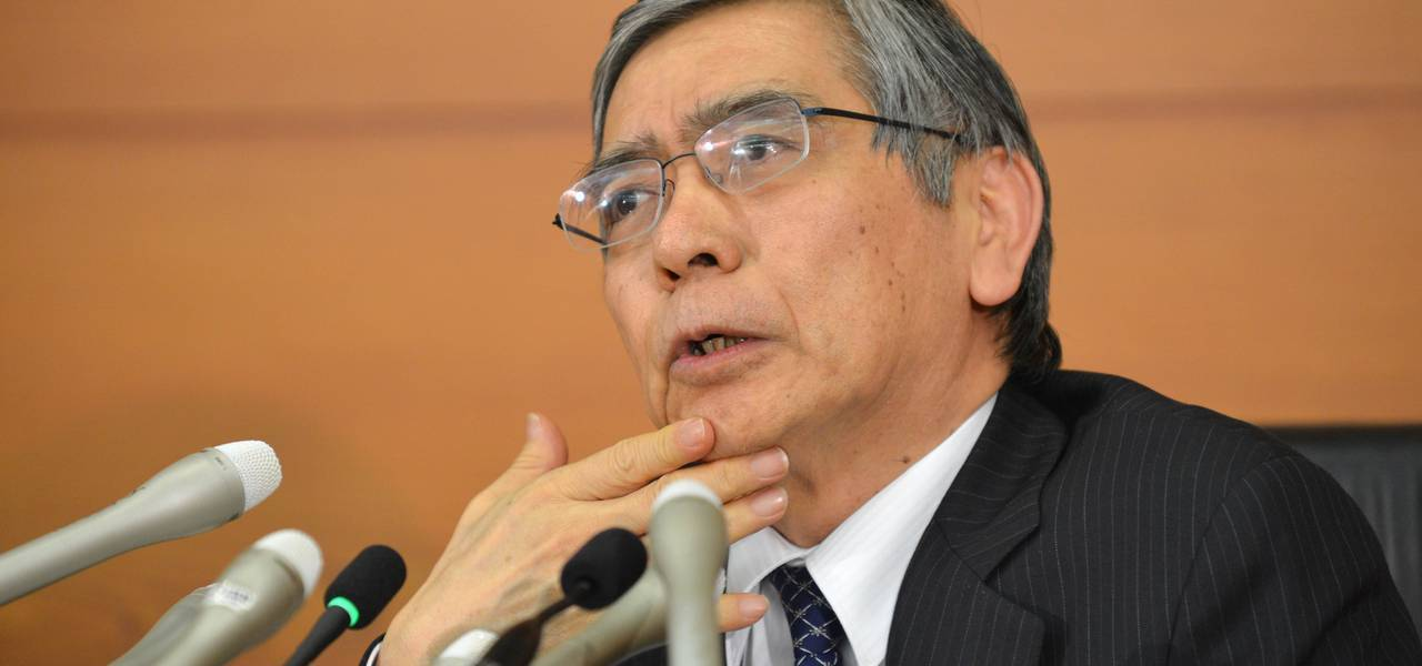 Kuroda's optimism on Japan's economy pushes yen to 4-month maximum