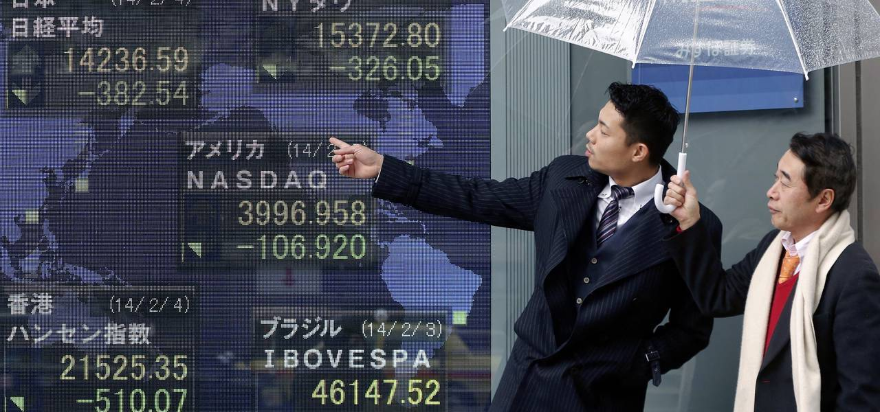 Asian shares go down