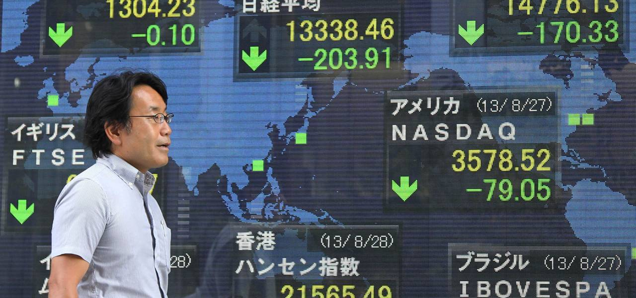 Asian stocks mostly decline with Hong Kong and Shanghai up