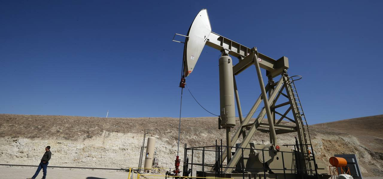 Crude prices soar on first dip in American drilling in months