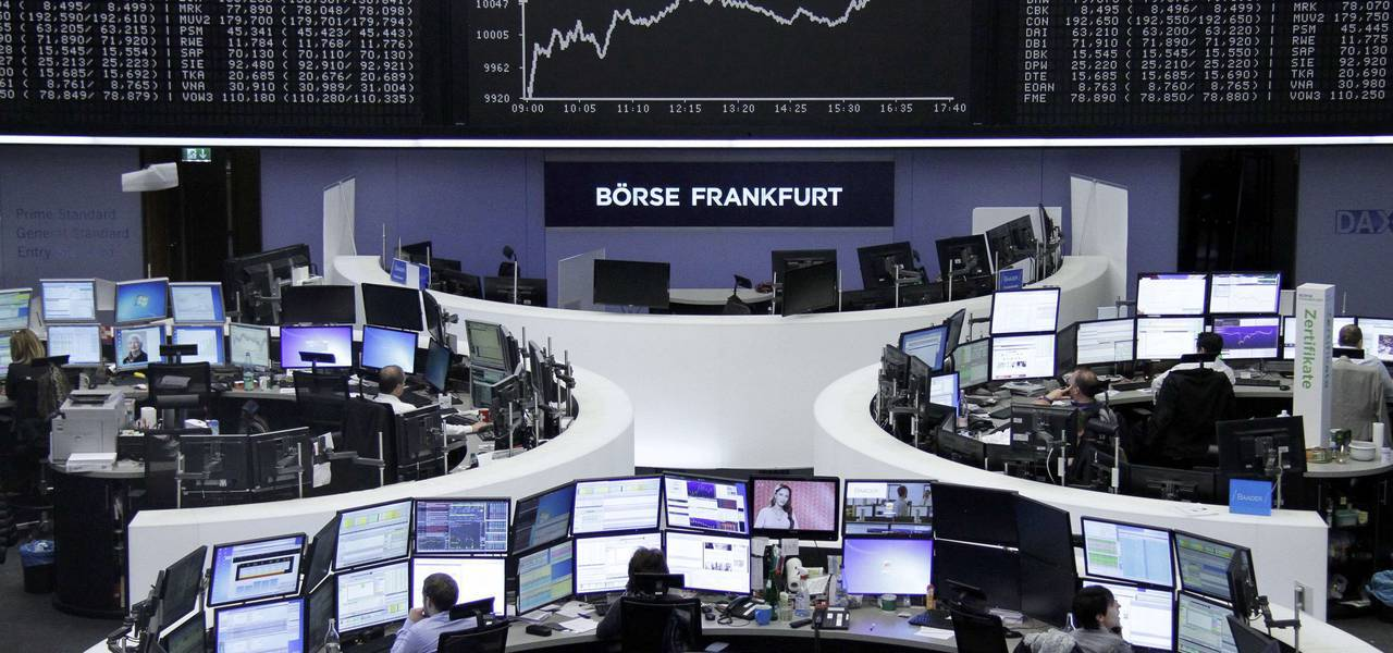 European shares are intact to lower as sentiment fluctuates