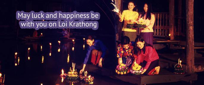 FBS company greeting clients on Loy Krathong!