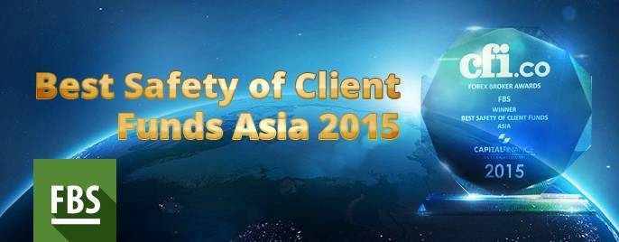 "FBS company got ""Best Safety of Client Funds Asia"" award!"