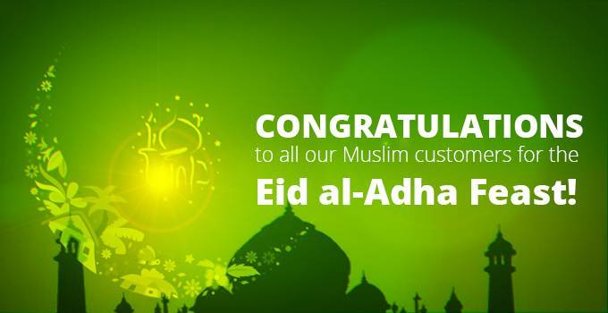 Congratulations for the Eid al-Adha festival!