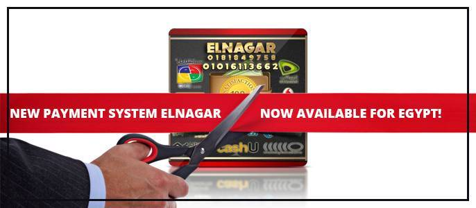 New payment system Elnagar now available for Egypt!