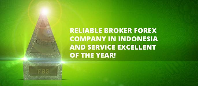 "FBS company awarded as ""Reliable Broker Forex Company in Indonesia and Service Excellent of the year""!"