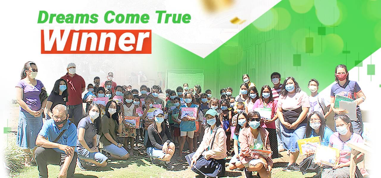 Dreams Come True Winner Provided School Supplies for Poor Kids