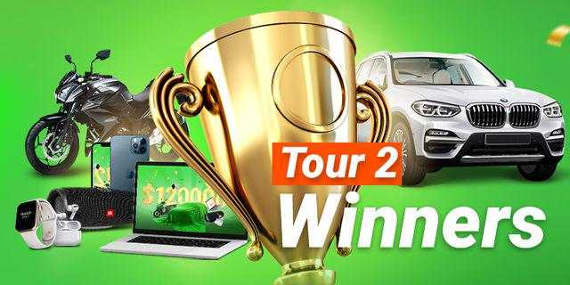 Winners of Tour 2 in FBS 12 Years: Big Time! Big Money!